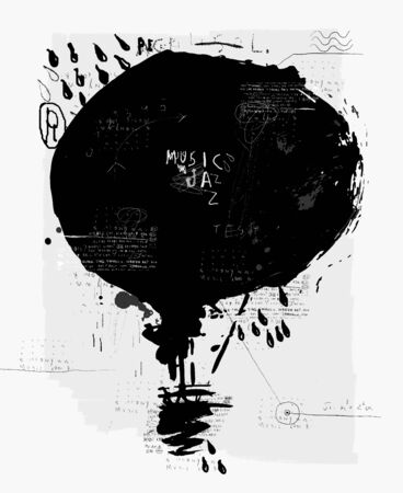 aerodynamics: Symbolic image of the balloon  Illustration