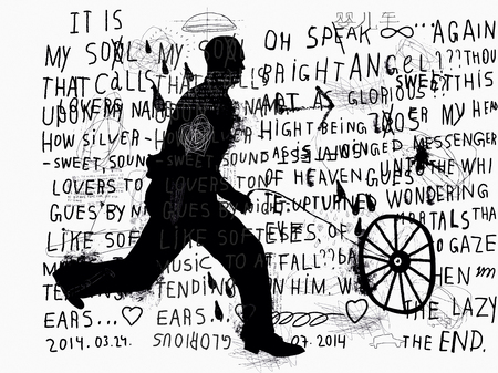 jolt: Symbolic image of a man who rolls the wheel