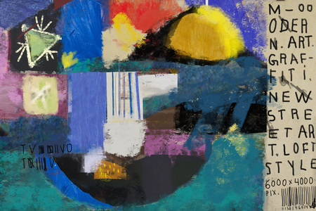 Abstraction, which consists of a plurality of color patches