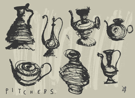 anforas: Imagen simbólica de los lanzadores sobre un fondo gris