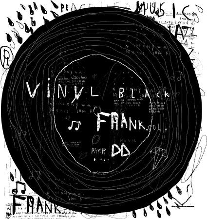musica electronica: Disco de m�sica muestra de edad Vectores