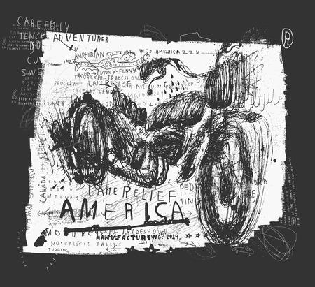 Symbolic image of an old racing bike 向量圖像