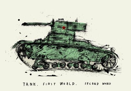seconda guerra mondiale: Immagine simbolica del serbatoio della seconda guerra mondiale