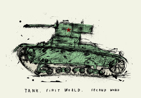 second world war: Symbolic image of the tank of the Second World War