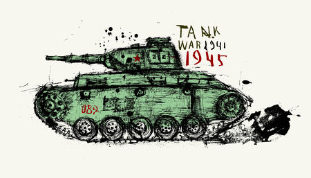 34: Symbolic image of the tank of the Second World War