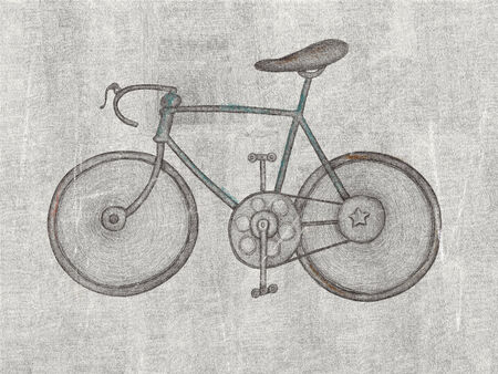 Symbolic image of sports bike graffiti Stock Photo
