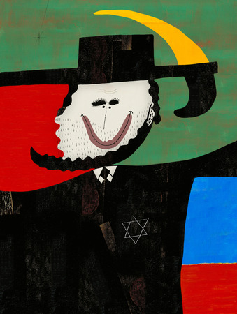 jews: Symbolic image of a man in the Jewish national dress