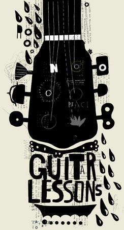 grafitis: Imagen simb�lica de una parte de un instrumento musical Vectores