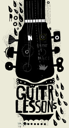 Symbolic image of part of a musical instrument Illustration