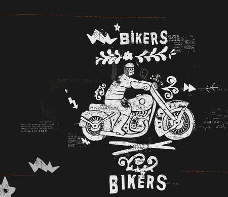 racing bike: Symbolic image of an old racing bike Illustration