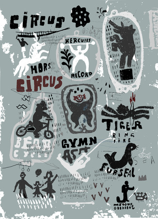 The symbolic image of the characters who work at the circus