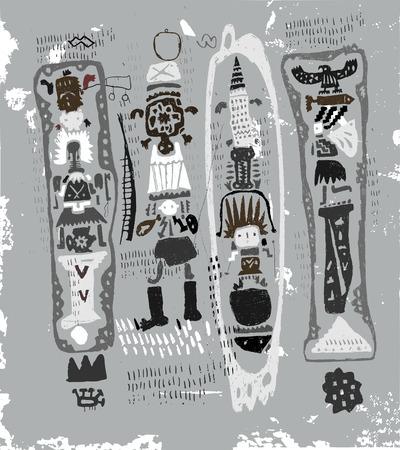 adler silhouette: Bilder der Zeichen, die auf das Thema der Indianer geh�ren