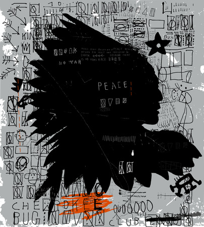 The symbolic image of the American Indian Ilustração