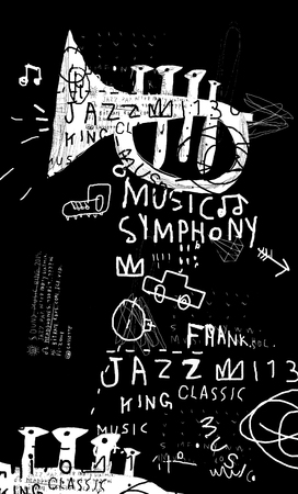 jazz music: Symbolic image of a musical instrument