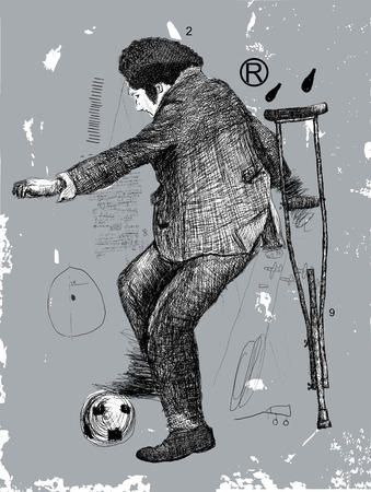 Image of a disabled person who plays soccer