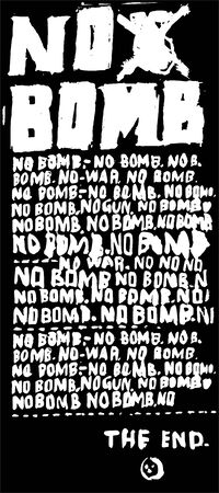 love symbols: A poster that contains a protest against the bombing