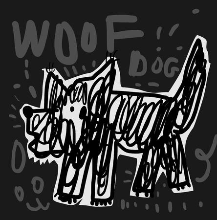 The symbolic image of a dog that barks Ilustracja