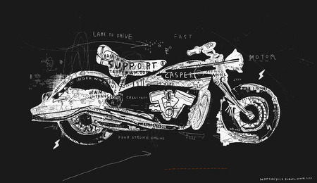 plurality: Motorcycle, which consists of a plurality of symbols Illustration