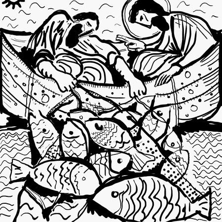 barca da pesca: La storia del Vangelo in cui Gesù dà la sua benedizione ad una grande pesca