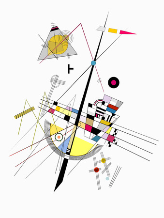 Kandinsky (Tensi?n suave) inspired abstract art, on the grounds of Wassily Kandinsky(1866-1944)