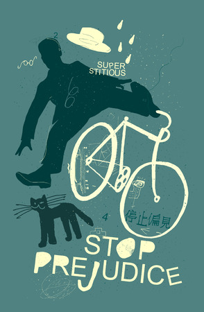 Image of a cyclist who was scared of a black cat
