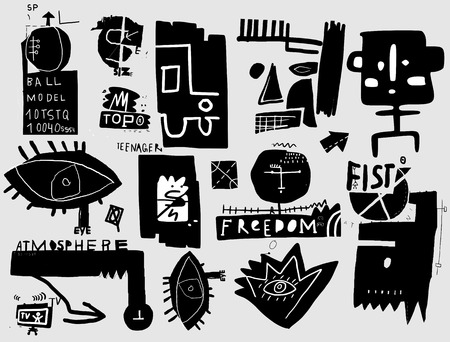 Image symbols that relate to the art of graffiti