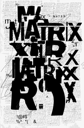 The symbolic image of the word matrix, which consists of many parts