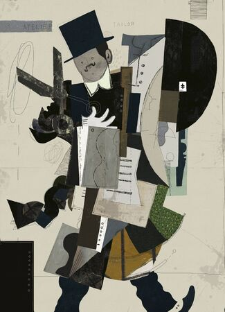 Abstract image of a man who has a tailor profession
