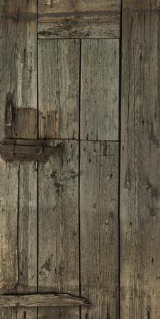 Image of a door that is very much changed by time and nature Stock Photo