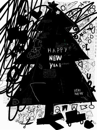 Image of Christmas tree Ilustracja