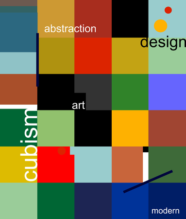 A picture that consists of colored squares design