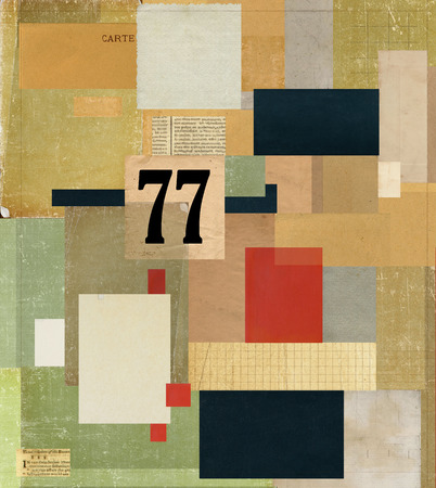 A collage made of cardboard, which is made in the style of abstraction Zdjęcie Seryjne