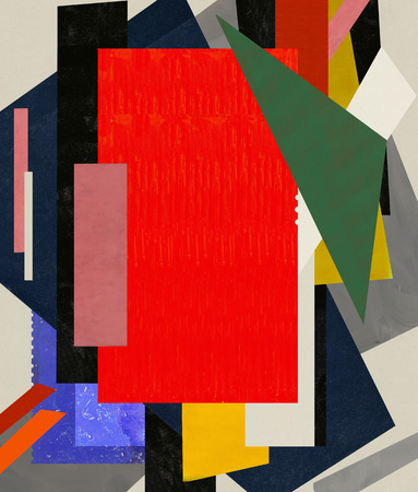 An abstraction that consists of a number of color spots