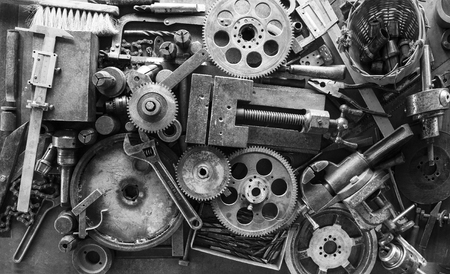 Composition of metal objects and hand tools