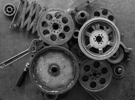 A composition that consists of mechanical parts Stock fotó
