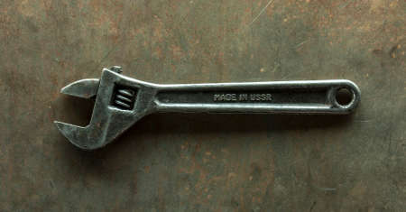 Picture of an old adjustable wrench