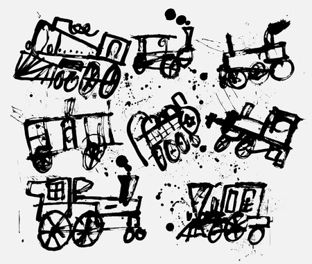 Symbolic image of old steam locomotives