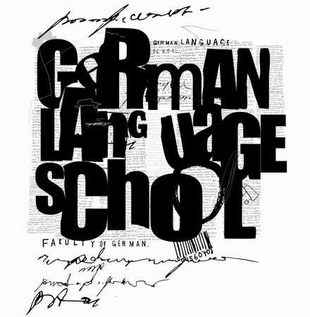 German language school Ilustracja