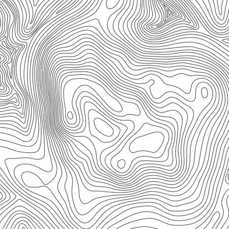 Topographic map background concept with space for your copy. Topography lines art contour , mountain hiking trail , Shape design. Computer generated . 矢量图像