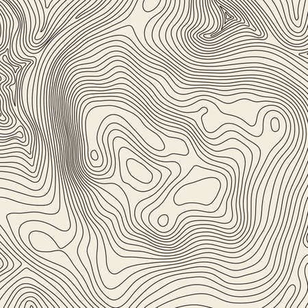 Topographic map background concept with space for your copy. Topography lines art contour , mountain hiking trail , Shape design. Computer generated . Illustration