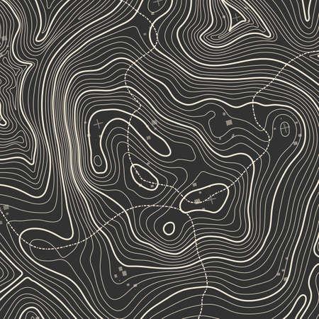 地形図背景コンセプトあなたのコピーのためのスペース。地形線アート輪郭、山道のハイキング、形状設計。コンピューターが生成しました。  イラスト・ベクター素材