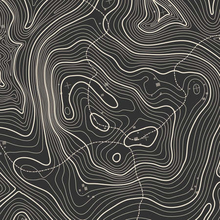 Topographic map background concept with space for your copy. Topography lines art contour , mountain hiking trail , Shape design. Computer generated . Çizim