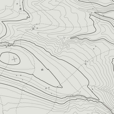topografia: Mapa topográfico del concepto del fondo con el espacio para su copia. Topografía líneas de contorno arte, ruta de senderismo de montaña, la forma de diseño vectorial. generado por ordenador. Vectores