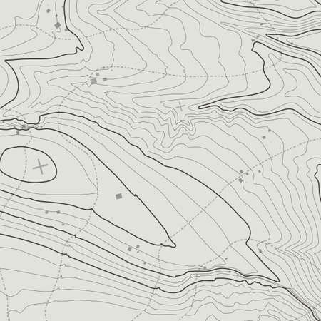 topografia: Topographic map background concept with space for your copy. Topography lines art contour , mountain hiking trail , Shape vector design. Computer generated .