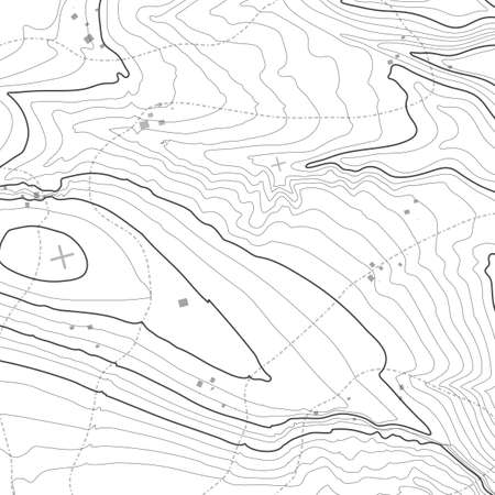 Topographic map background concept with space for your copy. Topography lines art contour , mountain hiking trail , Shape design. Computer generated . 일러스트