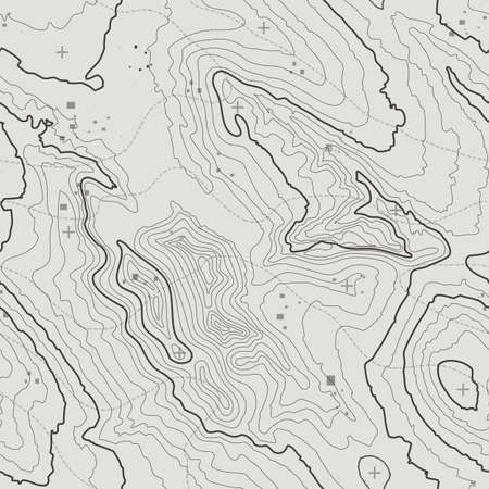 Topographic map background concept with space for your copy. Topography lines art contour , mountain hiking trail , Shape design. Computer generated . Stock Illustratie