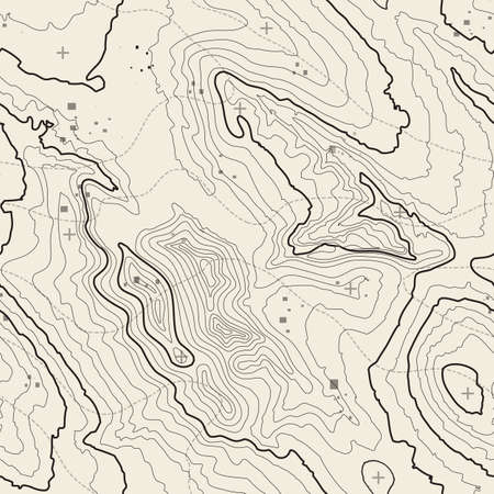 Topographic map background concept with space for your copy. Topography lines art contour , mountain hiking trail , Shape design. Computer generated .  イラスト・ベクター素材