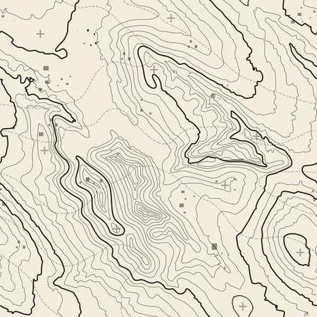 Mapa topográfico del concepto del fondo con el espacio para su copia. líneas de topografía arte contorno, ruta de senderismo de montaña, diseño de la forma. generado por ordenador. Foto de archivo - 62434350