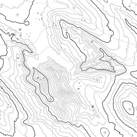 Mapa topográfico del concepto del fondo con el espacio para su copia. líneas de topografía arte contorno, ruta de senderismo de montaña, diseño de la forma. generado por ordenador.