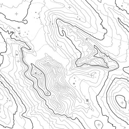 Topographic map background concept with space for your copy. Topography lines art contour , mountain hiking trail , Shape design. Computer generated . Vettoriali
